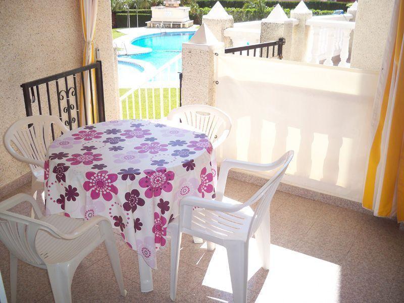 Terraza de apartamento en Alcossebre.
